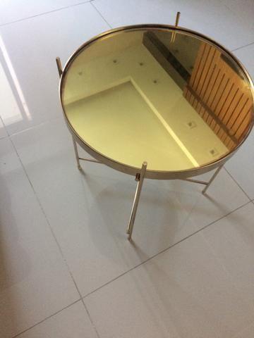 Mesa lateral dourada - Foto 3