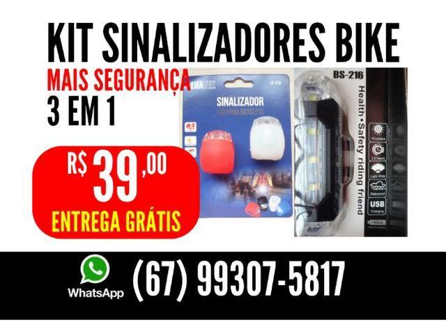 Kit Sinalizadores de bike 3 em 1 Entrega Grátis
