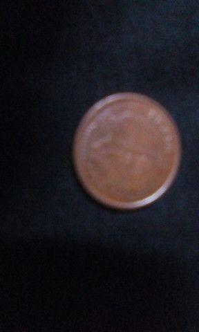Moeda de 1 centavo bronze - Foto 2