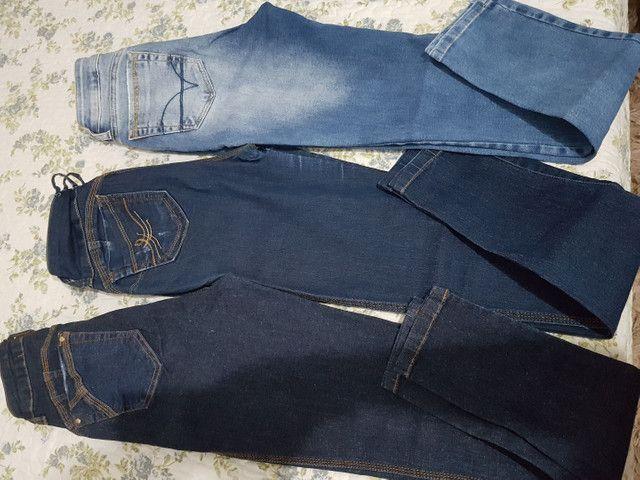 *Desapego* calças de marca n 38 - Foto 4