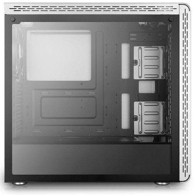 Gabinete Gamer Cooler Master MasterBox MS600 Vidro Temperado Branco - Loja Natan Abreu  - Foto 4