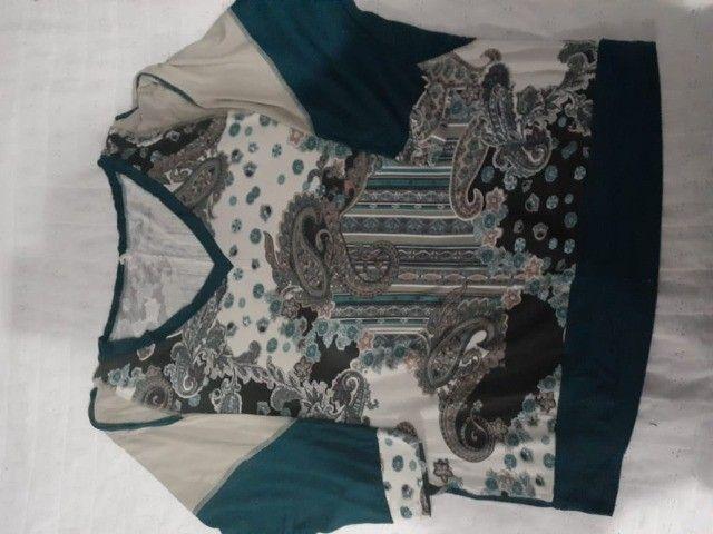 Lote de roupas plus size - Foto 6