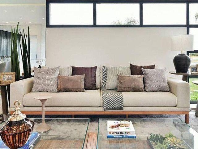 Sofás de luxo revestido na fibra