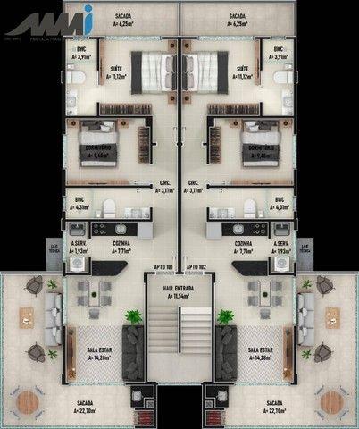 Royal Vitale II, Apartamento Cobertura 2 Quartos no Itacolomi, Piçarras - Foto 7
