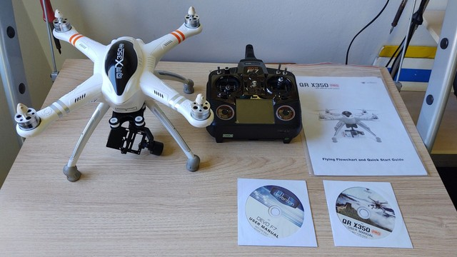 Drone Walkera Qr X350 Pro + Gimbal 2d + 2x Baterias 5200 3s