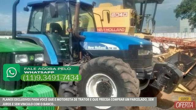 Trator Ford/New Holland TM 180 4x4 ano 06 - Foto 4