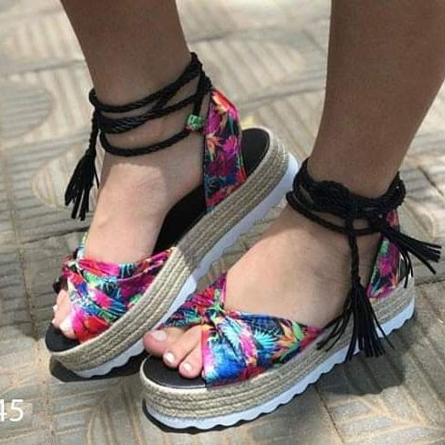 Sandália Flatform tamanho 37/38  - Foto 2