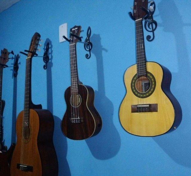 Suporte para violão   guitarra   baixo   ukulele   cavaco  etc - Foto 2