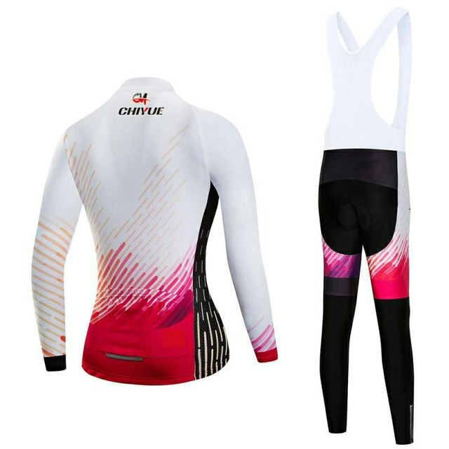 Bretelle e Camisa Manga Longa - Conjunto de Ciclismo Feminino - Foto 2