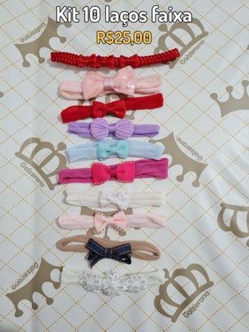 Kit laços/faixas para bebê