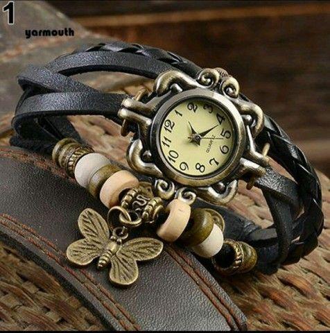 Relógio De Pulso Feminino Multicamadas Vintage - Foto 2