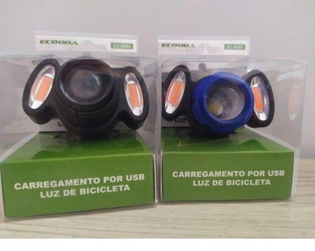 Farol Lanterna Bicicleta Recarregável Ecooda Ec - 6085 - Foto 2