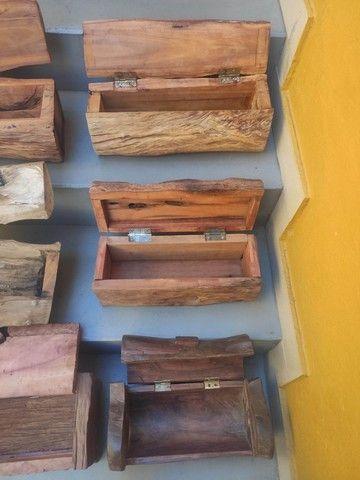 Baús em madeira rústica - Foto 4