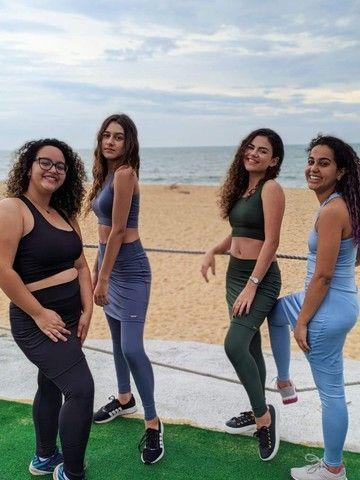 Legging com saia - Moda fitness - Foto 2
