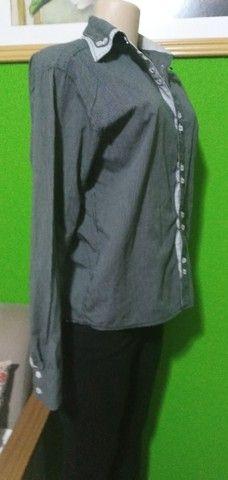 Camisa Feminina Manga Longa Listrada D´Jas - Tam. G - Foto 5