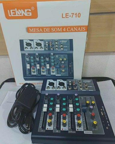 Mesa De Som Digital 4 Canais Le-710