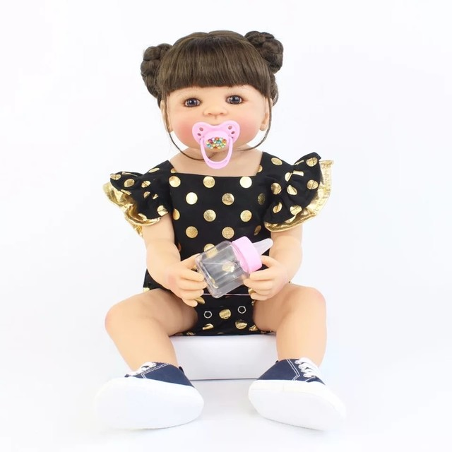 Boneca bebê reborn de silicone