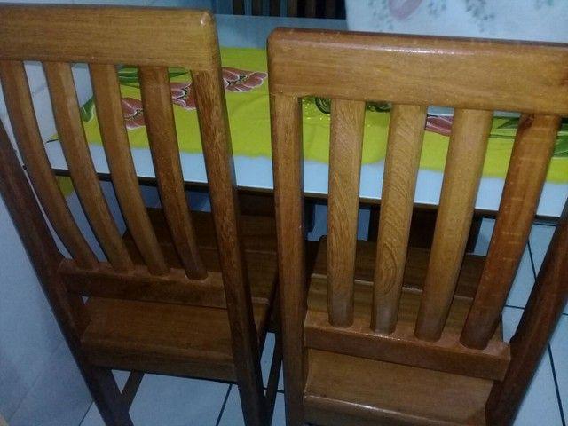 Cadeira de madeira maciça angelim  - Foto 2