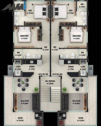 Royal Vitale II, Apartamento Cobertura 2 Quartos no Itacolomi, Piçarras - Foto 6