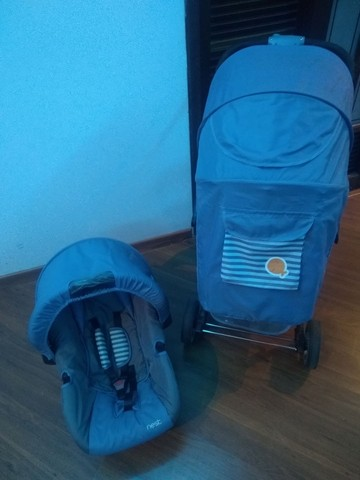 Carrinho bebê conforto Kiddo semi novo - Foto 5