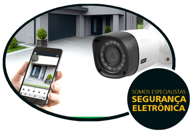 camera alarme cerca eletrica portão eletronico vendas instalações e manutenção - Foto 4