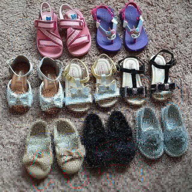 Lote calçados menina n.19