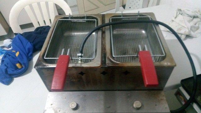 Fritadeira de alta pressão a gás industrial. - Foto 4
