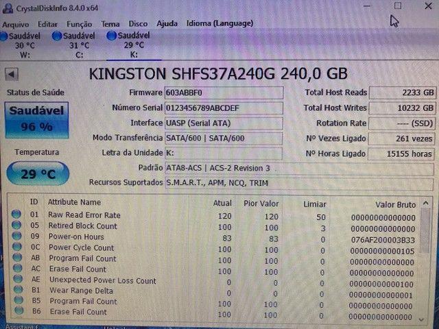 SSD Gamer Kingston Hyperx Fury 240GB - Foto 3