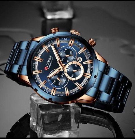 Relógio Curren esportivo de luxo masculino, novo a prova d'água - Foto 2