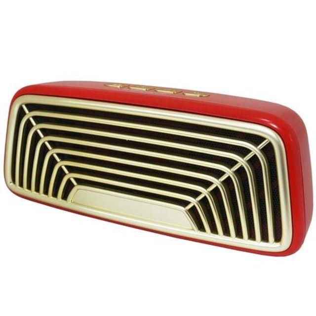 Caixa de som Bluetooth VC-M270BT Vintage Infokit - Foto 5