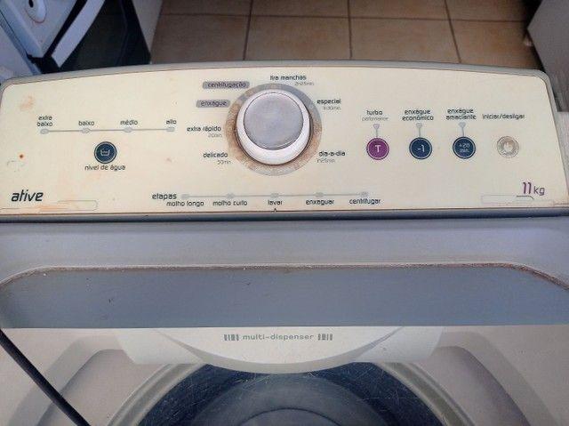Máquina Brastemp 11 kg faz tudo usada - Foto 3