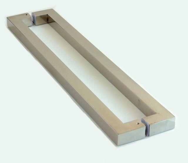 Puxador de Porta Inox 304 Polido 120cm 30x30x1200mm - Foto 2
