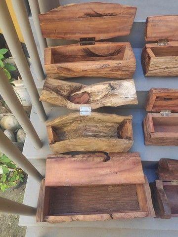Baús em madeira rústica - Foto 6