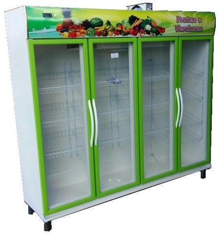 Balcão Refrigerado Expositor Frutas e Verduras 4 portas