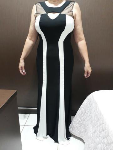 c41b98ddbd Vestido de festa social longo preto e branco - Roupas e calçados ...