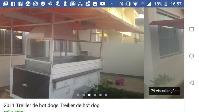 Barbada 7.000 por 4.400 vendo trailer de hot dog wsts - Foto 4