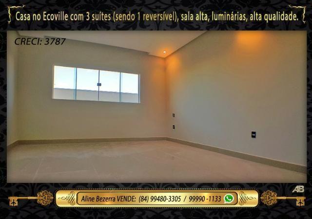 Financia, casa com 3 suítes no Ecoville, sombra, alta qualidade, venha conhecer - Foto 7