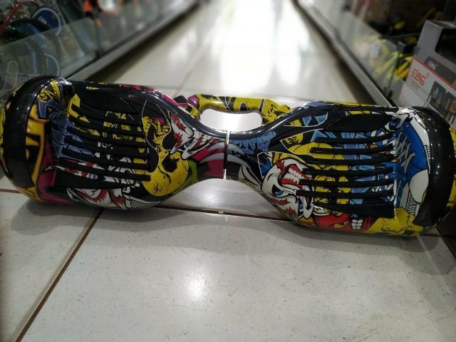Promoção Skate elétrico bluetooth Rodinhas com leds Novo e