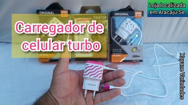 Carregador Celular Turbo V8 3.1a - Foto 2