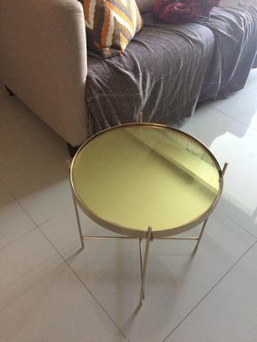 Mesa lateral dourada - Foto 4