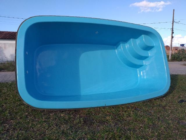 Vendo piscina de fibra, já instalada, contato * - Foto 2