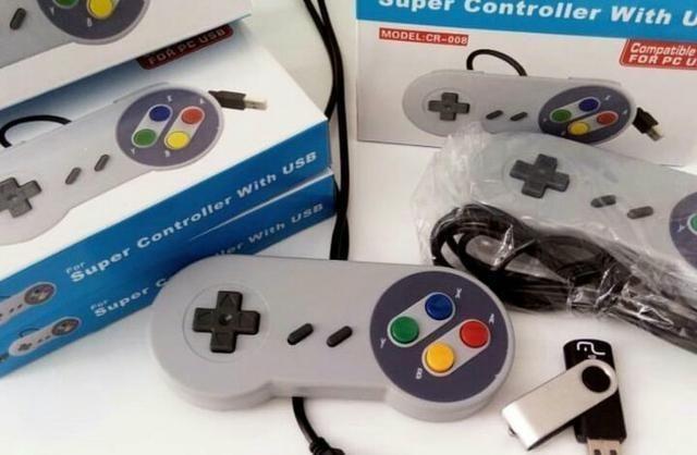 Pen drive com jogos do Super Nintendo + controle usb - Foto 2