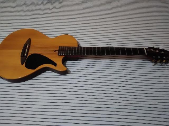 Violão Nylon Top Estilo Guitarra - Foto 5