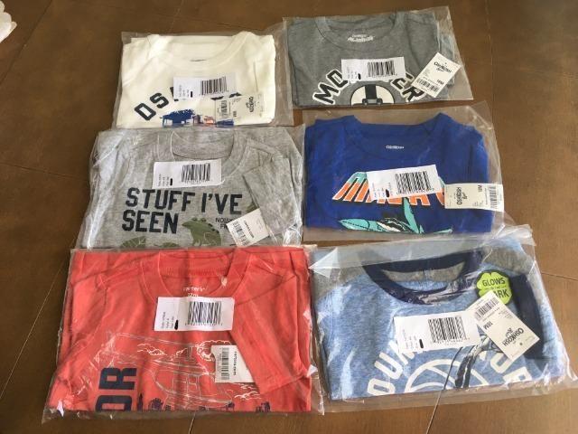 Kit 6 camisas da marca Carter,s e oshkosh