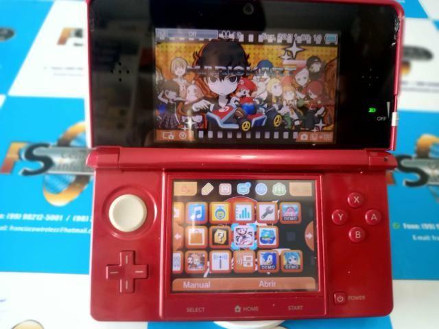 Nintendo 3ds com 5 jogos