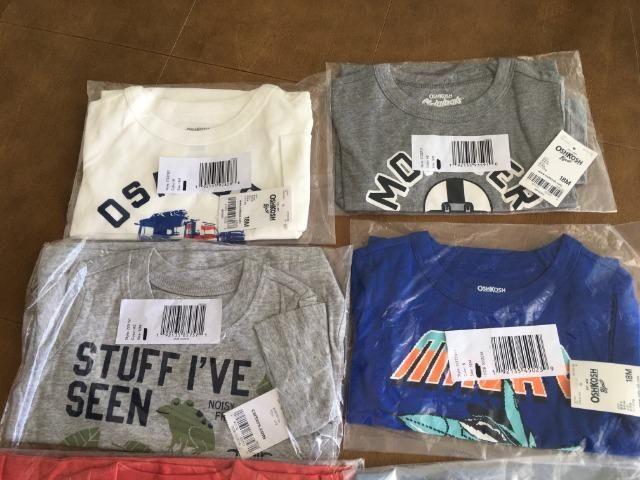 Kit 6 camisas da marca Carter,s e oshkosh - Foto 2