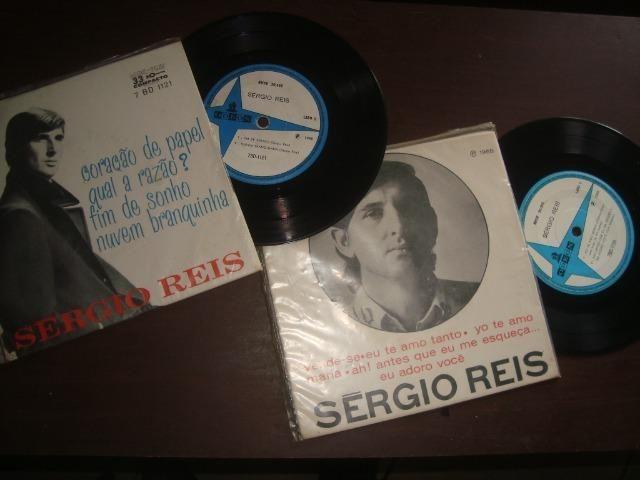 Sergio Reis, Lote com 2 compactos Vinil, Jovem Guarda - Foto 3