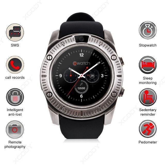 Relógio Inteligente Smartwatch Bluetooth KY003 Metal - Foto 3