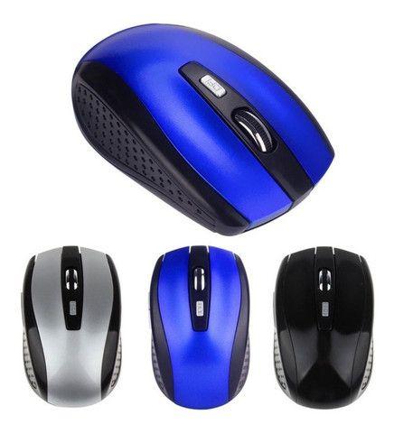 Mouse Wireless Sem Fio 2.4ghz Usb Alcance 10m Notebook E Pc - Foto 3