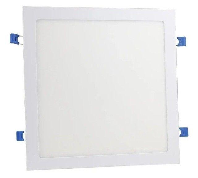 Plafon Led Quadrado Embutir 25w Branco Neutro 4000k 30cm x30cm - Foto 2